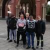 Rajd pieszy im. Jana Pawła II szlakami Czesława Piskorskiego w Szczecinie z udziałem wychowanków Młodzieżowego Ośrodka Socjoterapii w Waniorowie