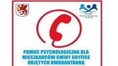 Pomoc psychologiczna dla mieszkańców Gminy Gryfice objętych kwarantanną