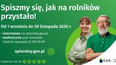 Rolniku! Trwa Powszechny Spis Rolny 2020. Spisz się - to Twój obowiązek!