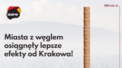 Walka ze smogiem. Miasta z węglem osiągnęły lepsze efekty od Krakowa