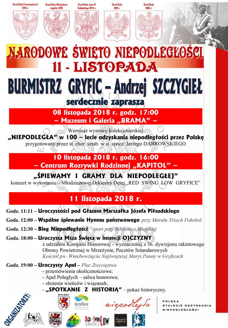 11 listopada - obchody w Gryficach