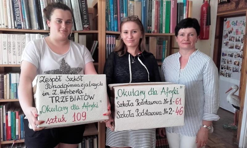 """Finał akcji """"Okulary dla Afryki"""" w """"Herbercie""""!"""