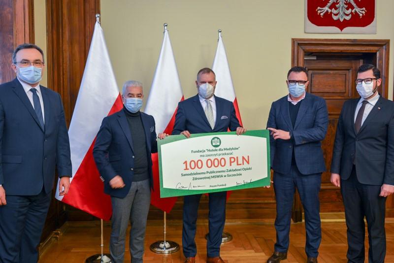 """Fundacja """"Hotele dla Medyków"""" wspiera finansowo Szpital MSWiA w Szczecinie"""
