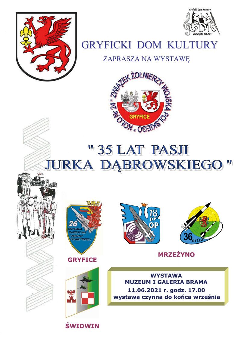 """Gryficki Dom Kultury zaprasza na wystawę """"35 lat pasji Jurka Dąbrowskiego""""."""