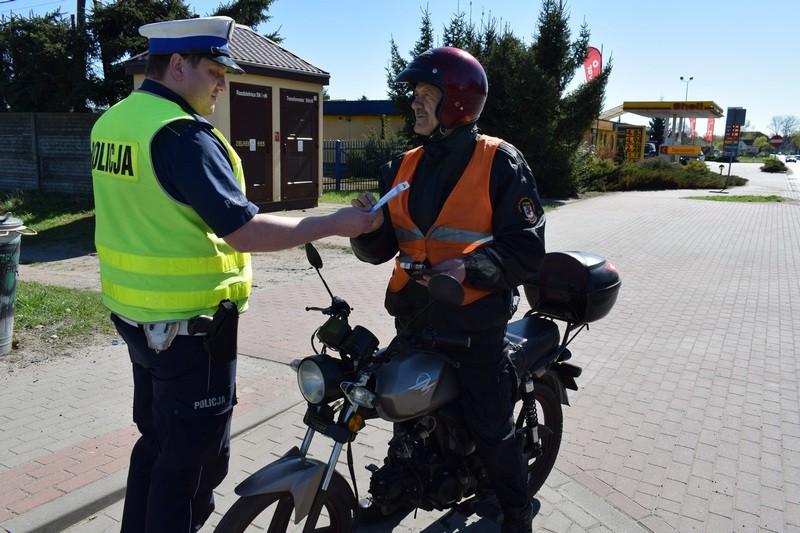 """""""Jednośladem bezpiecznie do celu"""" - ogólnopolska akcja policji również w Gryficach"""