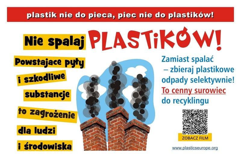 """Kampania edukacyjno-społeczna """"Plastik nie do pieca - piec nie do plastiku"""""""