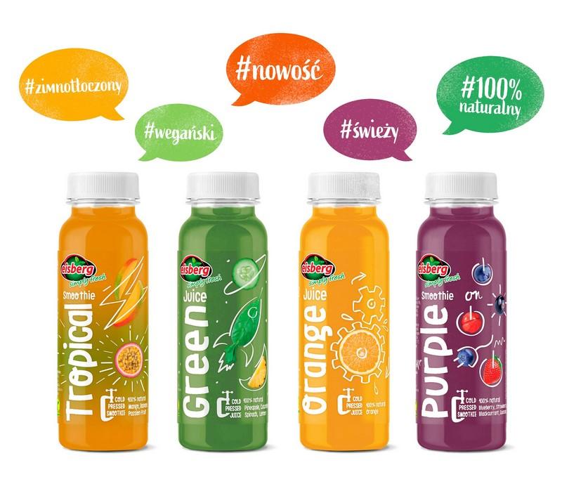 Nowość! Świeże i naturalne - linia wegańskich soków i smoothies HPP marki Eisberg