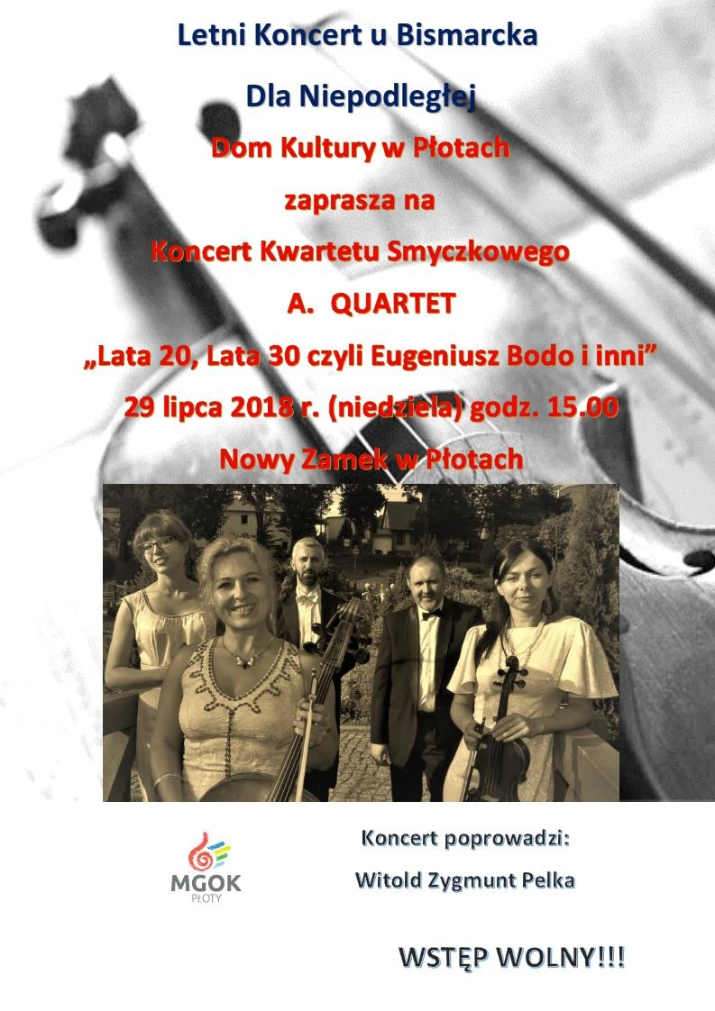 Płoty: Letni koncert u Bismarcka
