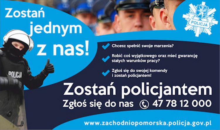 Policja poszukuje kandydatów do służby – zarobki ok 4000 zł netto