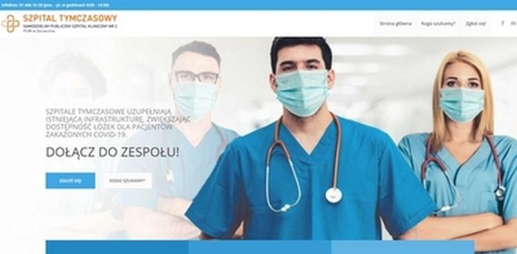 Rusza rekrutacja personelu medycznego do szpitali tymczasowych w Szczecinie