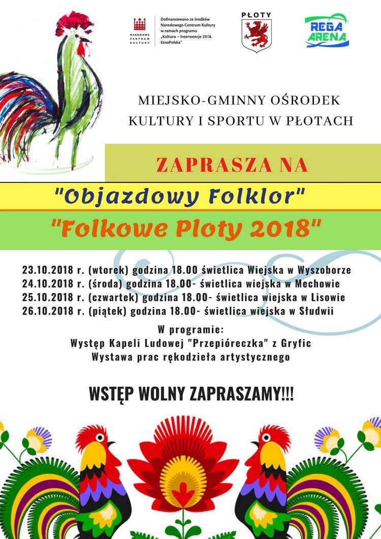 """Zaproszenie na Festiwal Kultury i Tradycji Ludowej """"Folkowe Płoty"""""""