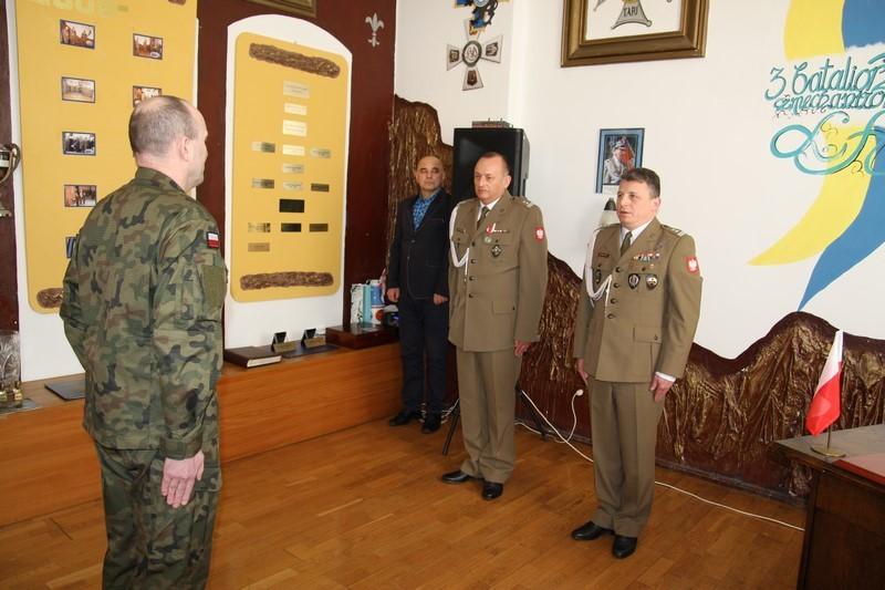 Zmiana dowódcy 3 Batalionu Legii Akademickiej w Trzebiatowie