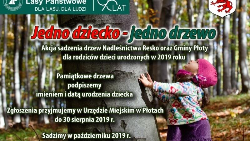 """Akcja """"Jedno dziecko, jedno drzewo"""" już w Gminie Płoty"""