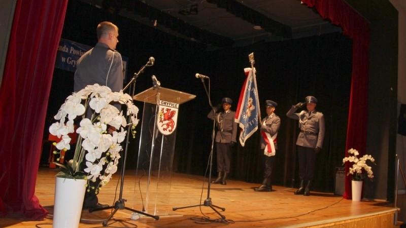 Święto Policji – uroczysta zbiórka w Gryficach