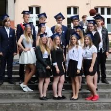 Zakończenie roku szkolnego absolwentów Gimnazjum w Płotach